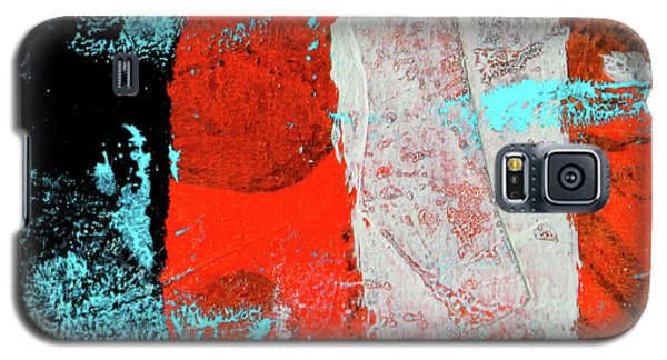 Galaxy S5 Case featuring the mixed media Square Collage No. 9 by Nancy Merkle