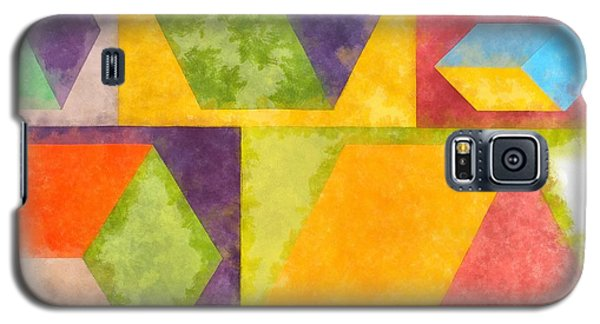 Galaxy S5 Case - Square Cubes Abstract by Edward Fielding