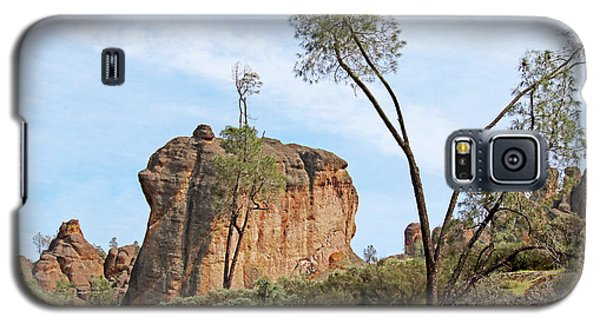 Galaxy S5 Case featuring the photograph Square Rock Formation by Art Block Collections