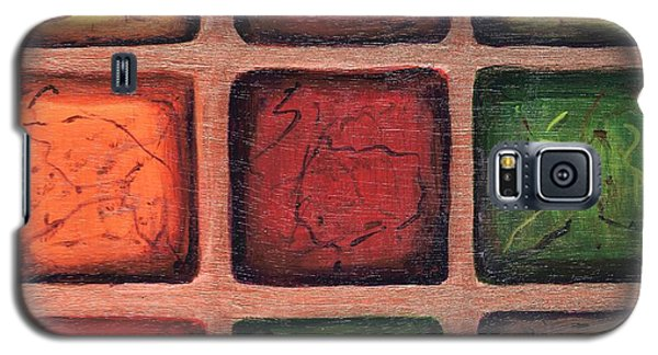 Squared In Bronze Galaxy S5 Case
