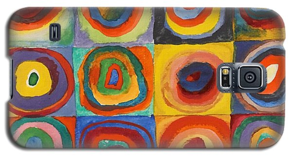 Squares With Concentric Circles Galaxy S5 Case