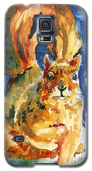 Galaxy S5 Case featuring the painting Squeak by P Maure Bausch