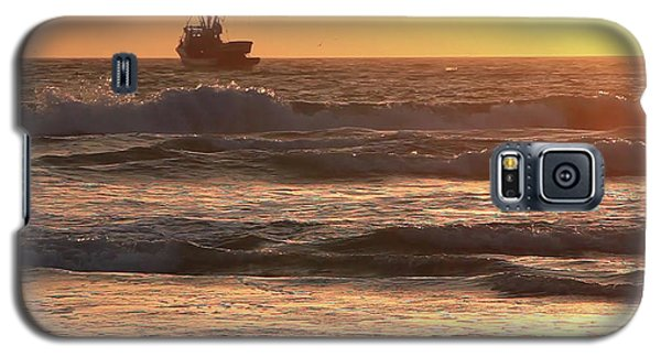 Squid Boat Golden Sunset Galaxy S5 Case