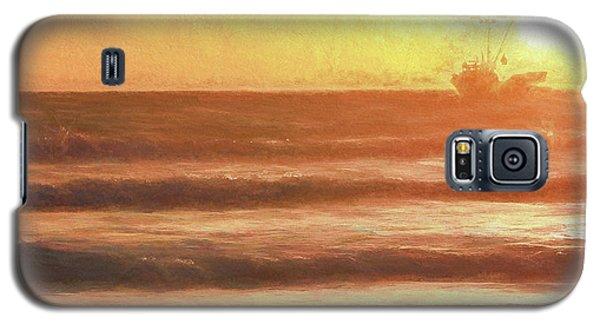 Squid Boat Sunset Galaxy S5 Case