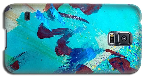 Galaxy S5 Case featuring the painting Squiggles And Stripes by Darice Machel McGuire