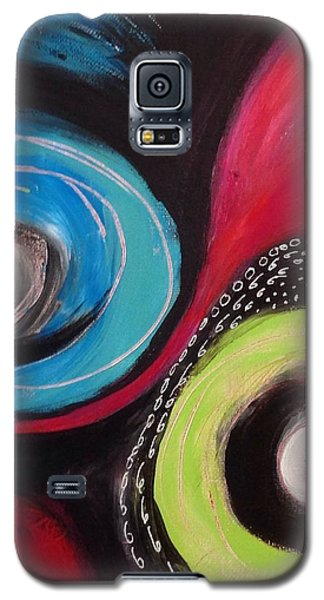Galaxy S5 Case featuring the painting Squiggles And Wiggles   by Suzzanna Frank