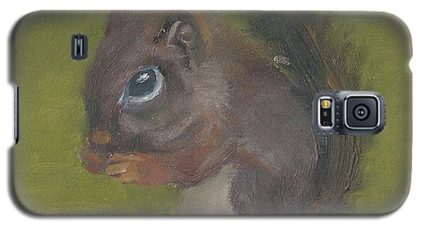 Galaxy S5 Case featuring the painting Squirrel by Jessmyne Stephenson