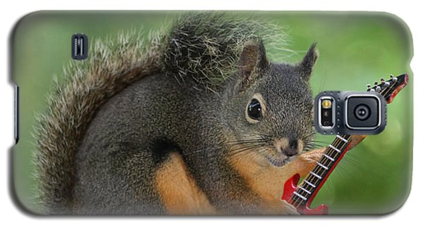 Squirrel Playing Electric Guitar Galaxy S5 Case by Peggy Collins
