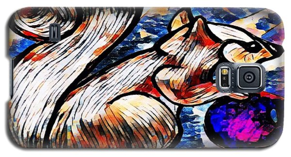 Squirrel With Christmas Ornament Galaxy S5 Case