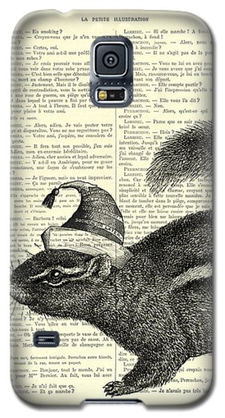 Audubon Galaxy S5 Case - Squirrel With Hat by Madame Memento