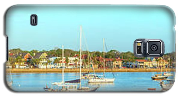 Galaxy S5 Case featuring the photograph St Augustine Panorama by Sebastian Musial