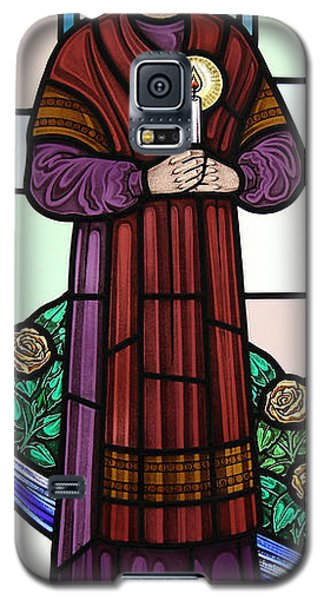 Galaxy S5 Case featuring the glass art Saint Bernadette  by Gilroy Stained Glass