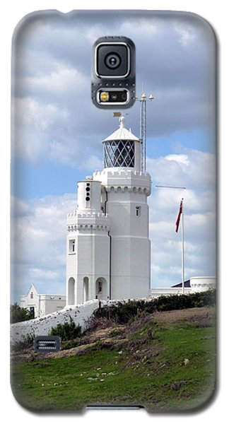 Galaxy S5 Case featuring the photograph St. Catherine's Lighthouse On The Isle Of Wight by Carla Parris