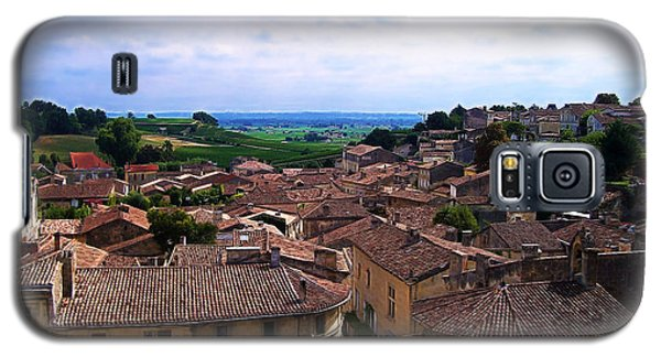 Galaxy S5 Case featuring the photograph St. Emilion View by Joan  Minchak