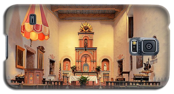 Galaxy S5 Case featuring the photograph St Francis Chapel At Mission San Diego by Christine Till