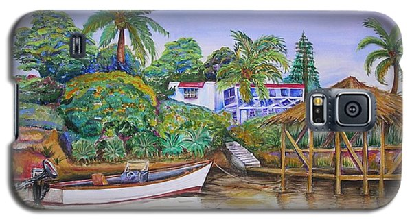 Galaxy S5 Case featuring the painting St. George Harbor by Patricia Piffath