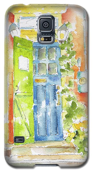 Galaxy S5 Case featuring the painting St Johns Jelly Bean At 8 Wood Street by Pat Katz
