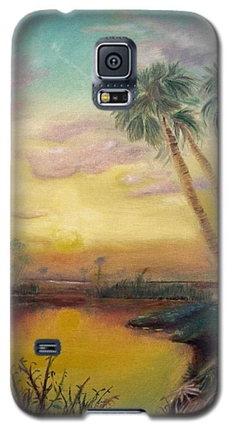 Galaxy S5 Case featuring the painting St. Johns Sunset by Dawn Harrell