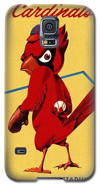St. Louis Cardinals Vintage 1956 Program Galaxy S5 Case