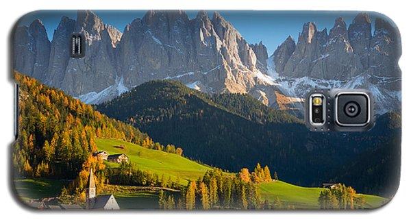 St. Magdalena Alpine Village In Autumn Galaxy S5 Case