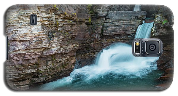 Galaxy S5 Case featuring the photograph St. Mary Falls by Gary Lengyel