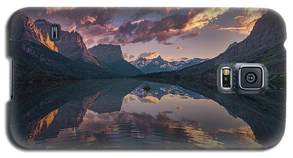 St Mary Lake At Dusk Panorama Galaxy S5 Case