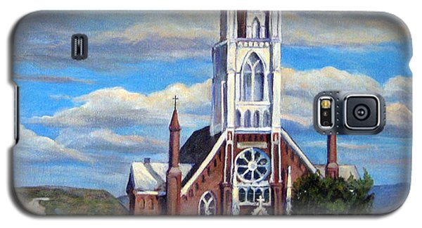 Galaxy S5 Case featuring the painting St. Mary Of The Mountains by Donna Tucker