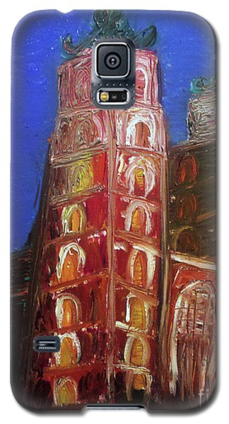 Galaxy S5 Case featuring the painting St. Mary's Church Kosciol Marjacki by Ania M Milo