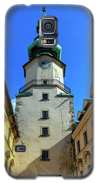 St Michael's Tower In The Old City, Bratislava, Slovakia, Europe Galaxy S5 Case by Elenarts - Elena Duvernay photo