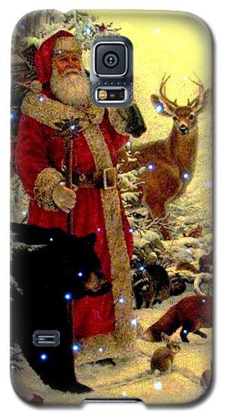 Galaxy S5 Case featuring the photograph St Nick  And Friends by Judyann Matthews