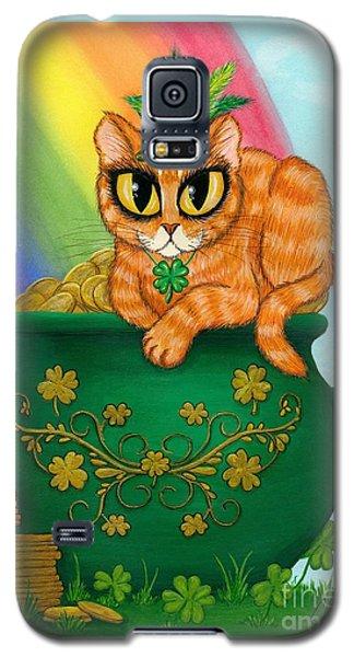 St. Paddy's Day Cat - Orange Tabby Galaxy S5 Case