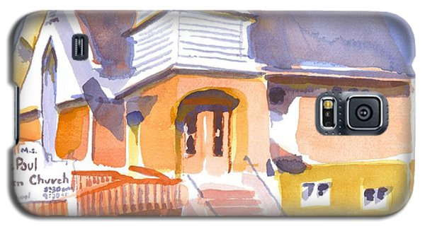 Galaxy S5 Case featuring the painting St. Paul Lutheran Ironton Missouri by Kip DeVore