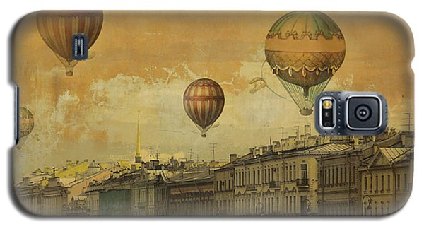 Galaxy S5 Case featuring the digital art St Petersburg With Air Baloons by Jeff Burgess