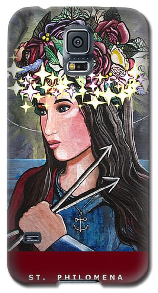 Galaxy S5 Case featuring the mixed media St. Philomena by Mary Ellen Frazee