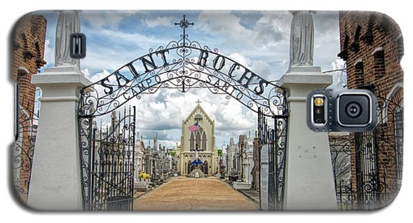 Galaxy S5 Case featuring the photograph St. Roch's Cemetery In New Orleans, Louisiana by Bonnie Barry