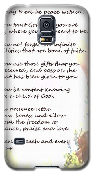 St Therese Of Lisieux Prayer And True Light Lower Emerald Pools Zion Galaxy S5 Case by Heather Kirk