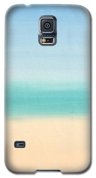 St Thomas #3 Seascape Landscape Original Fine Art Acrylic On Canvas Galaxy S5 Case