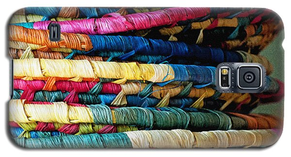 Galaxy S5 Case featuring the photograph Stacked Baskets by Gwyn Newcombe