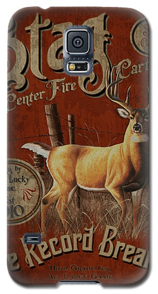 Stag Record Breaker Sign Galaxy S5 Case by JQ Licensing