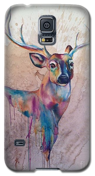 Galaxy S5 Case featuring the painting Stag Spirit by Christy  Freeman