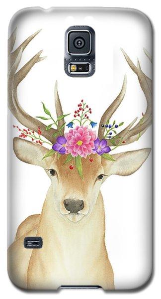 Stag Watercolor  Galaxy S5 Case by Taylan Apukovska