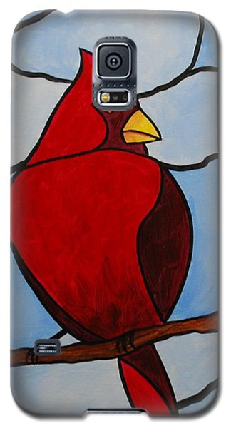 Stained Glass Cardinal Galaxy S5 Case