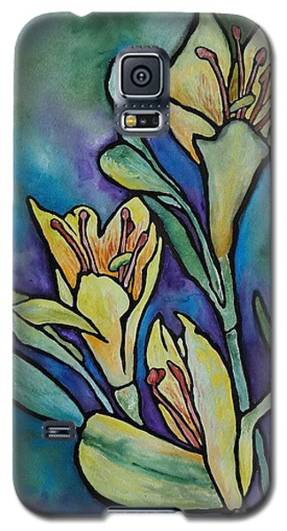Stained Glass Flowers Galaxy S5 Case