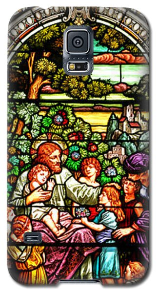 Galaxy S5 Case featuring the photograph Stained Glass Scene 12 Crop by Adam Jewell