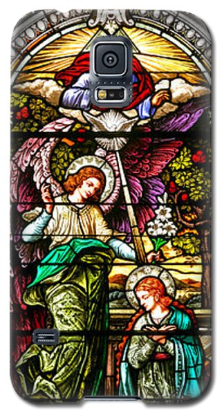 Galaxy S5 Case featuring the photograph Stained Glass Scene 5 Crop by Adam Jewell