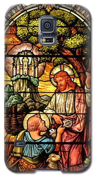 Galaxy S5 Case featuring the photograph Stained Glass Scene 9 by Adam Jewell