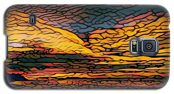 Stained Glass Sunset Galaxy S5 Case