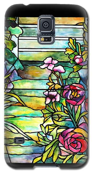 Stained Glass Tiffany Robert Mellon House Galaxy S5 Case by Donna Walsh