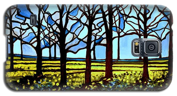 Stained Glass Trees Galaxy S5 Case by Elizabeth Robinette Tyndall