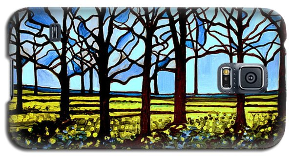 Stained Glass Trees Galaxy S5 Case